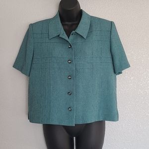 Miss Dorby Petites Teal Green Suit Jacket